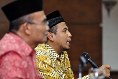 Dr. Agung Danarto, seketaris Umum Pimpinan Pusat (PP) Muhammadiyah didampingi, Dr. Muhadjir