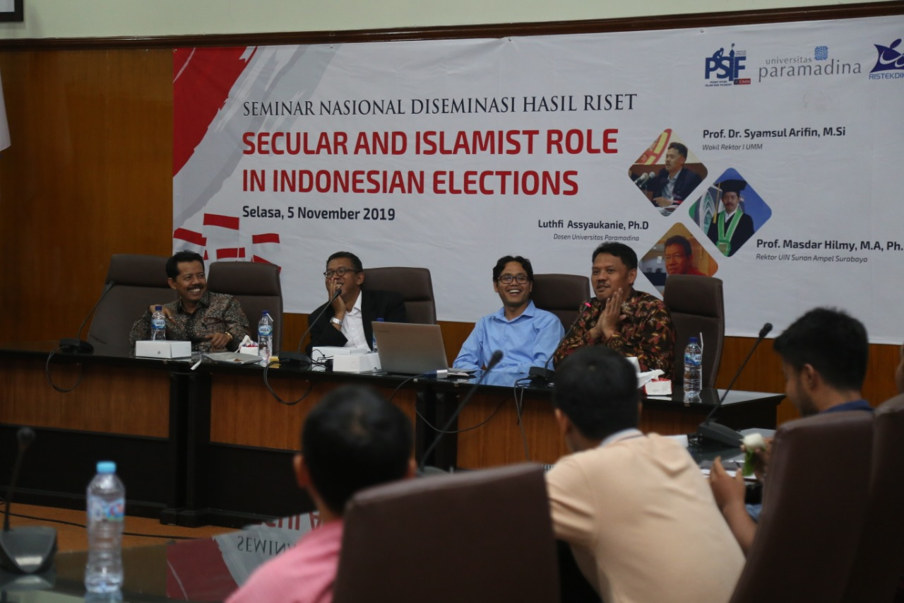 Prof.Dr.Syamsul Arifin, M.Si saat mengisi acara Seminar Nasional Diseminasi Hasil Riset (FOTO: