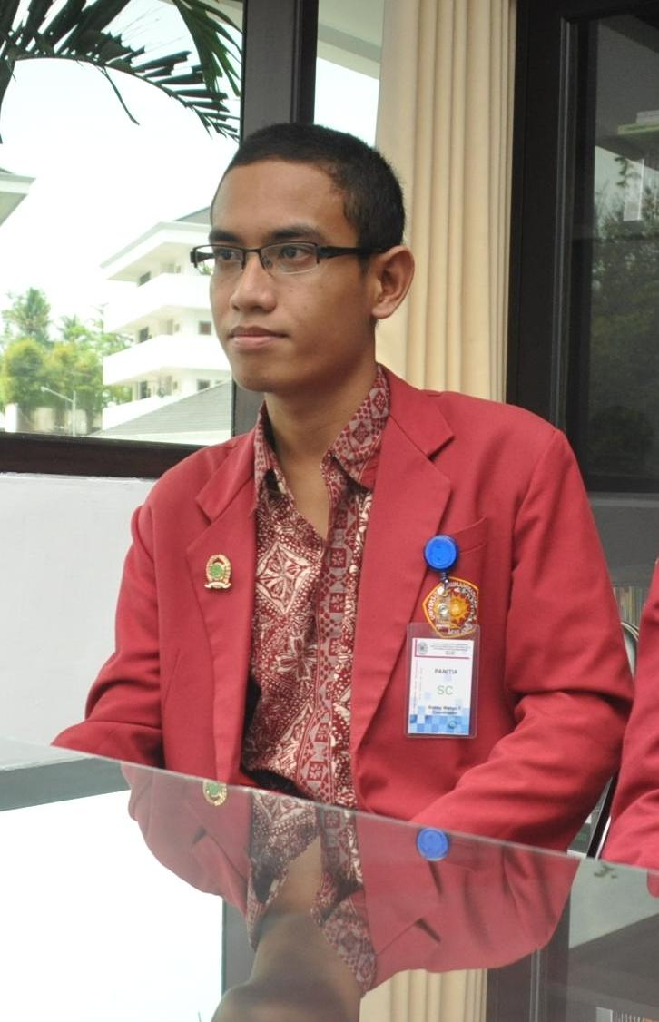 Robby Wahyu as the Chief of FPP BEM             The qualities of the raw
