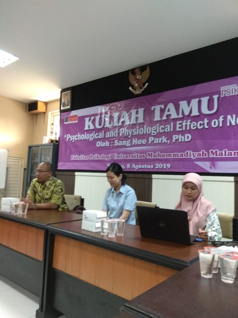 Guest lecture at the Faculty of Psychology, University of Muhammadiyah Malang (UMM) (Photo: Special) A