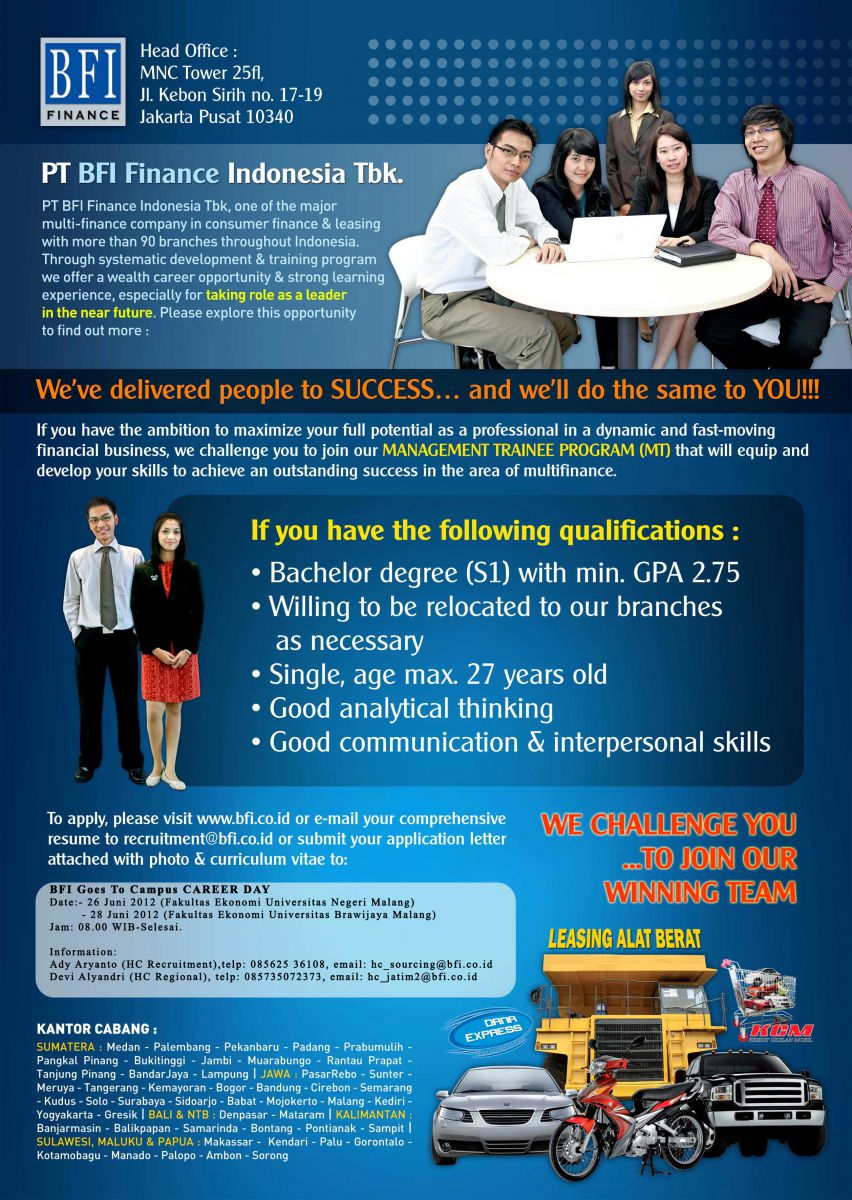 CREDIT ANALYST MANAGEMENT TRAINEE PROGRAM (CODE: CMTP)