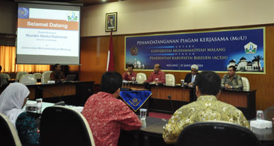 University of Muhammadiyah Malang (UMM) was visited by the Regent of Bireuen, Nangroe Aceh Darussalam